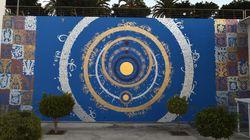 Les calligraphies de Tarek Benaoum investissent un mur de la BNRM