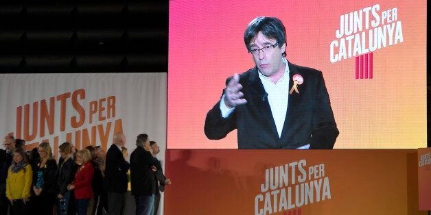 'Junts per Catalonia' (All for Catalonia) grouping cadidate for the upcoming Catalan regional election,...