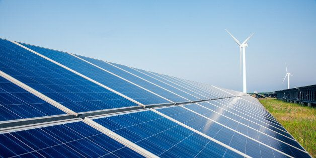 solar energy panels and wind