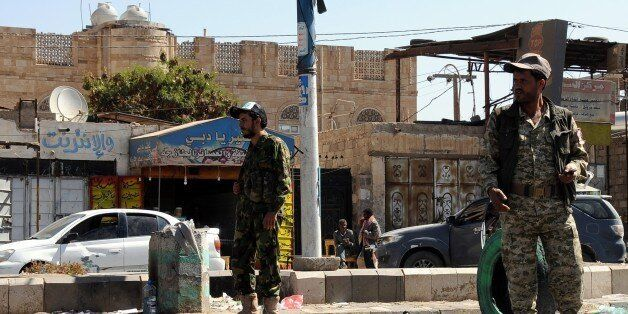 SANAA, YEMEN - DECEMBER 2: Houthi rebels set checkpoints on the way to airport as fighting between Houthi...