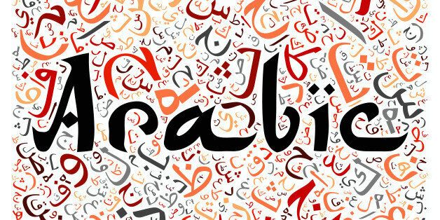 arabic alphabet texture background - with the word
