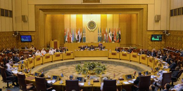 A general view of the Arab League delegates meeting to discuss possible move of the U.S. embassy to Jerusalem,...