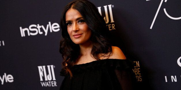 Actor Salma Hayek attends the Hollywood Foreign Press Association (HFPA) and InStyle celebration of the...