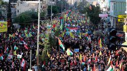 A l'appel du Hezbollah, des dizaines de milliers de libanais manifestent pour la