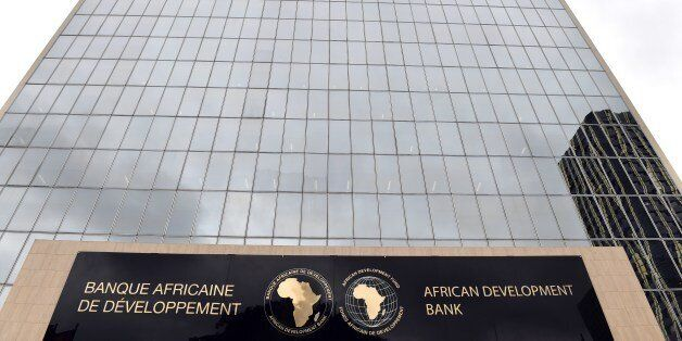 Photo show the African Development Bank (AfDB) headquarter in Abidjan on September 17, 2015. AFP PHOTO...