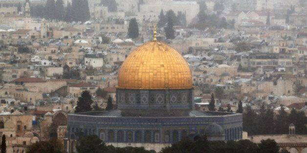 A general view of Jerusalem shows the Dome of the Rock, located in Jerusalem's Old City on the compound...