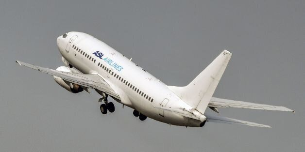 An aircraft of ASL Airlines France takes off from Lille Airport in Lesquin, northern France on August...