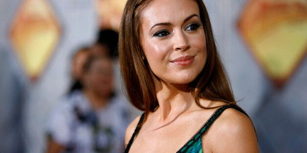 Actress Alyssa Milano poses at the world premiere