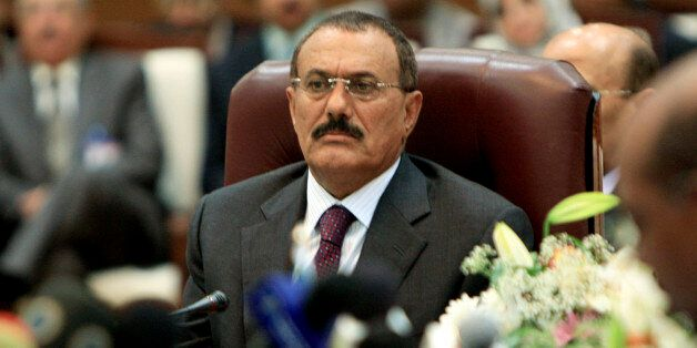 Yemen's President Ali Abdullah Saleh attends the opening of the Sixth Summit of Sanaa Forum for Co-operations...