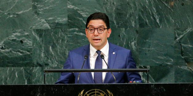 Moroccan Foreign Minister Nasser Bourita addresses the 72nd United Nations General Assembly at U.N. headquarters...