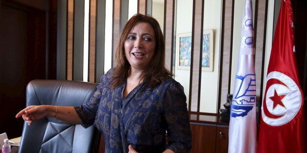 Wided Bouchamaoui, president of Tunisia's Employers' Organisation (UTICA) and a member of Tunia's National...