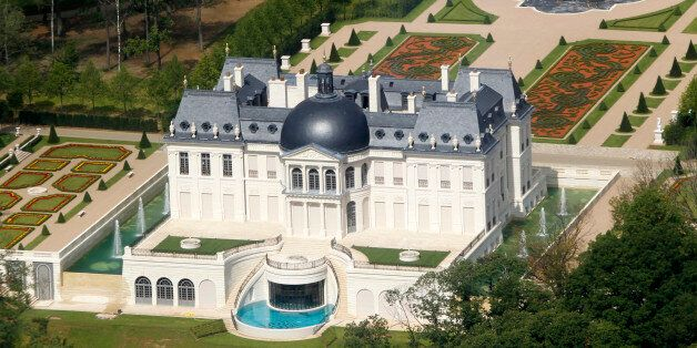 An aerial view of a luxurious private house in Louveciennes, near Paris July 14, 2011. The Chateau Louis...
