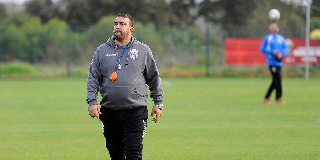 RABAT, MOROCCO - DECEMBER 11 : Head coach of ES Setif, Kheireddine Madoui attends a training session...