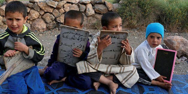 Des enfants dans une école coranique à Tinghir, Maroc, le 11 juin