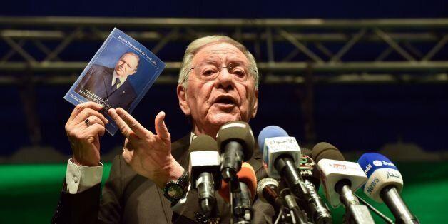 CORRECTION - Djamel Ould Abbes, Algerian Secretary General of the National Liberation Front (FLN), speaks...
