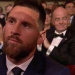 La comentadísima reacción de Messi al ver que no había ganado el premio al mejor