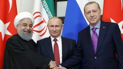Syrie: Poutine rallie Erdogan et Rohani à l'idée d'une réunion politique en