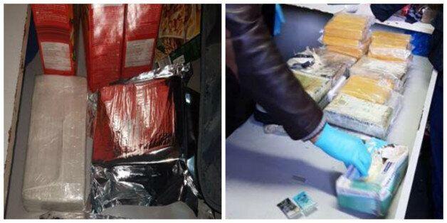 A Tanger, des kilos de drogue cachés dans des boîtes de corn