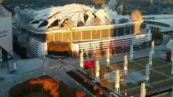 Les images de la destruction du Georgia Dome d'Atlanta sont