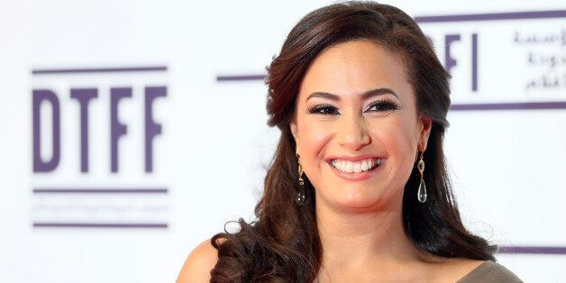 Tunisian actress Hind (Hend) Sabry (Sabri) attends the opening night of the Doha Tribeca Film Festival...