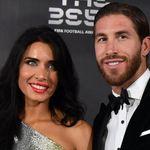 El llamativo 'look' con el que Pilar Rubio y Sergio Ramos han ido a los premios 'The