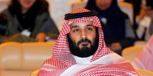 Saudi Crown Prince Mohammed bin Salman attends the Future Investment Initiative conference in Riyadh,...