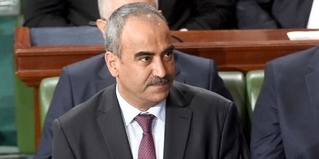 Tunisian newly appointed finance minister Ridha Chalghoum attends a parliamentary session ahead of a...