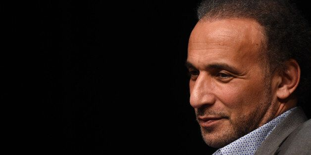 Swiss Islamologist Tariq Ramadan takes part in a conference on the theme 'Live together', on March 26,...