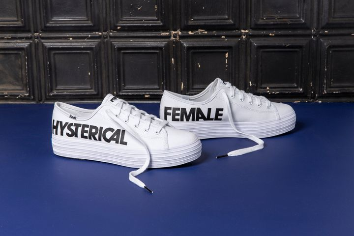 "Keds and Rachel Antonoff just unveiled a ""Hysterical Female"" shoe for National Voter Registration Day."