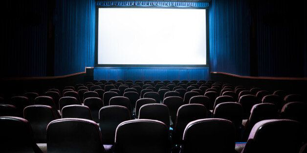 Movie Theater with blank screen / High contrast