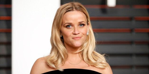 Actress Reese Witherspoon arrives at the 2015 Vanity Fair Oscar Party in Beverly Hills, California February...