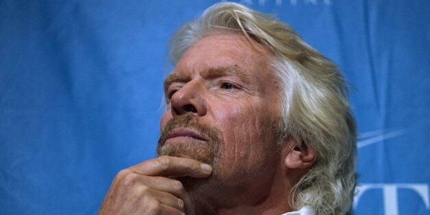 Sir Richard Branson, founder of Virgin Group, waits to speak on a panel at the annual Skybridge Alternatives...