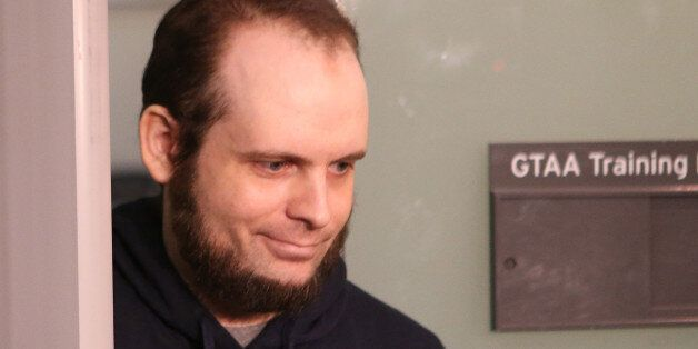 MISSISSAUGA, ON- OCTOBER 13 - Joshua Boyle arrives to speak to the media. He and his wife Caitlain Coleman...