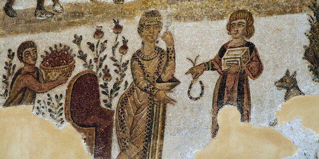 ITALY - JULY 29: Center, Regulus departing for Carthage, below, Caesar's death, left, Muzio Scaevola...