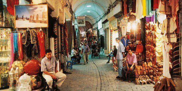TUNISIA - FEBRUARY 9: Souks in the medina of Tunis, Tunisia. (Photo by DeAgostini/Getty