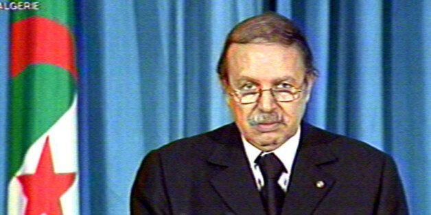 Algerian President Abdelaziz Bouteflika addresses the nation on televisionApril 30, 2001. Clashes between...