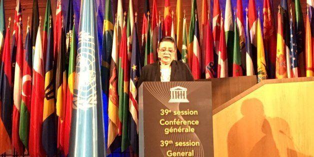 Zohour Alaoui élue présidente de la 39ème session de la conférence générale de