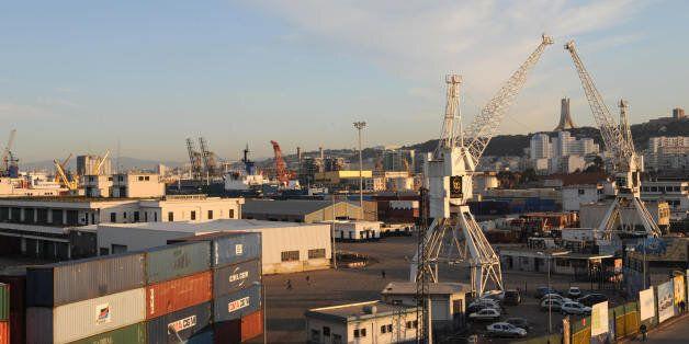 A picture taken on November 25, 2008 show the main seaport of Algiers. Dubai's port operator DP World...
