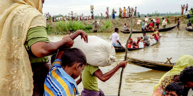 An estimated of 10,000 Rohingya were stranded for three days in