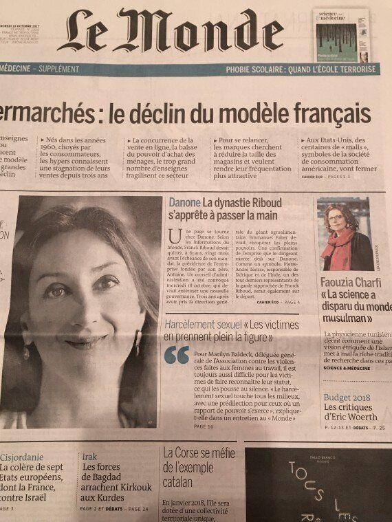La Tunisienne Faouzia Charfi en Une du journal Le Monde: Les