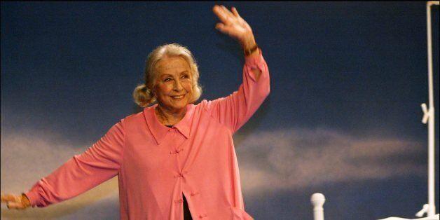 Danielle Darrieux Preview of the play 'Oscar et la Dame Rose' at the Comedie Des Champs Elysees Paris...