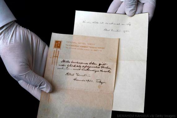 Une note d'Einstein sur le secret du bonheur va être vendue aux