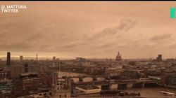 Ouragan Ophelia: Ce ciel jaune donne à Londres un air de fin du