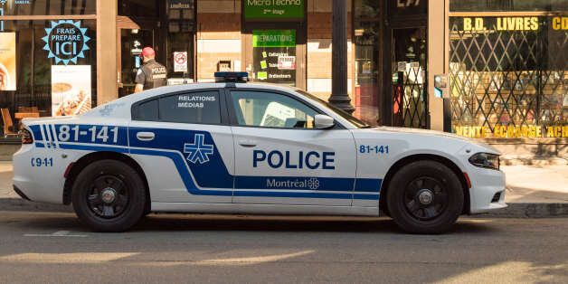 MONTREAL, QUEBEC, CANADA - 2017/06/11: Police car parked in Saint Catherine street. (Photo by Roberto...