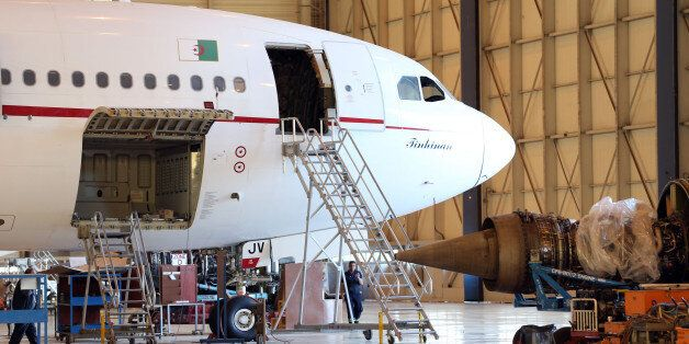 The room service for maintenance planes of Air Algeria in Algiers Airport Houari on 24 April 2016 The...