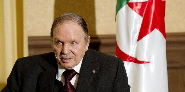 Algerian President Abdelaziz Bouteflika meets with his French counterpart Francois Hollande at the Zeralda...