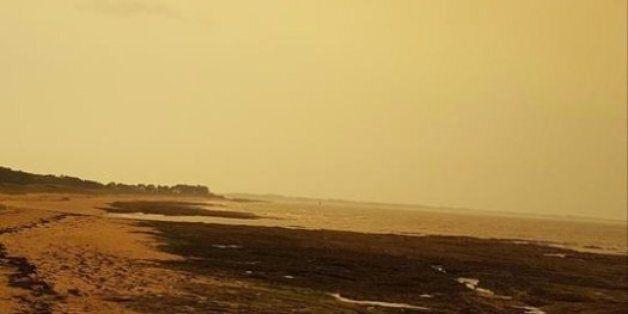 Quand le sable du Sahara fait changer de couleur le ciel de la