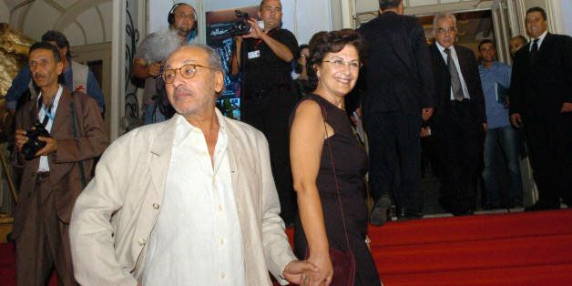 Tunisian actress Jelila Baccar and Tunisian director Fadhel Jaibi during the opening ceremony at the...