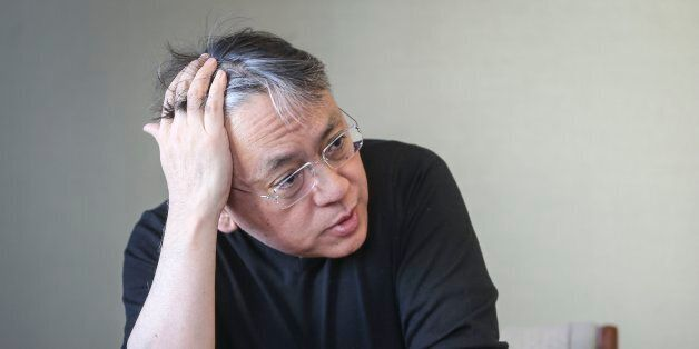 TORONTO, ON- MARCH 17 - Author of The Buried Giant Kazuo Ishiguro for interview at Random House. They...