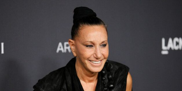 Fashion designer Donna Karan poses at the Los Angeles County Museum of Art (LACMA) Art+Film Gala in Los...